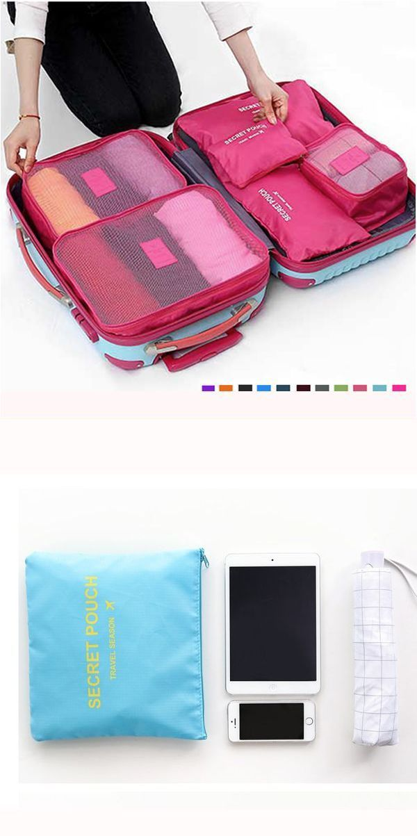 afd6e05fe8d Vip luggage travel bags 6pcs waterproof cube travel storage bags ...