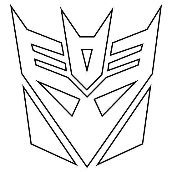 Decepticons Logo Black Stroke Decepticon Logo Easy Skull