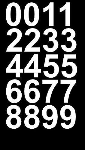 Sheet Of 2 Inch White Vinyl Custom Street Address Mailbox Number Decal Stickers Kit Sticker Kits Mailbox Numbers White Vinyl