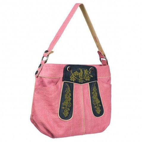 Außergewöhnliche Trachtentasche zum Dirndl in Rosa von