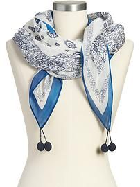 {Dorothy's Scarves / Add the Tassels} Women's Patterned Gauze Scarves