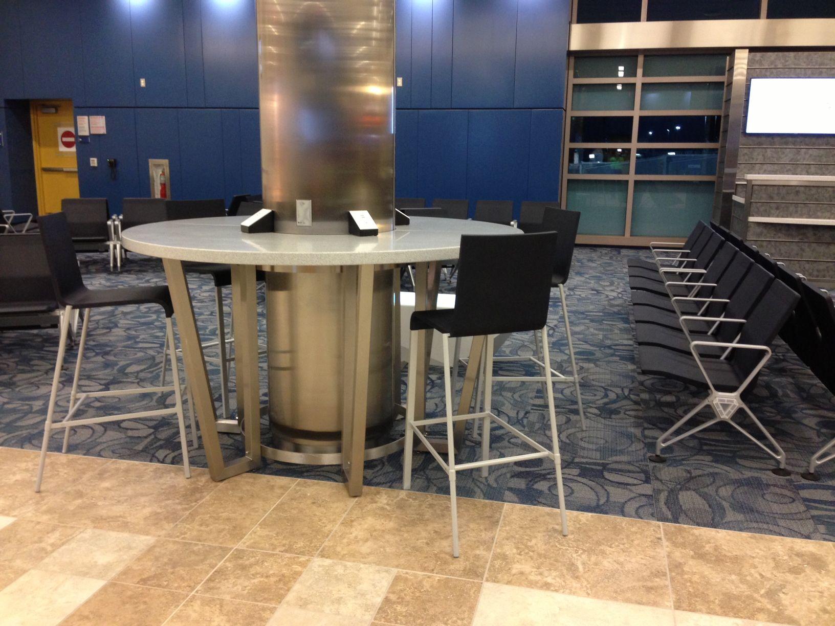myrtle beach airport- seating around column - herald office