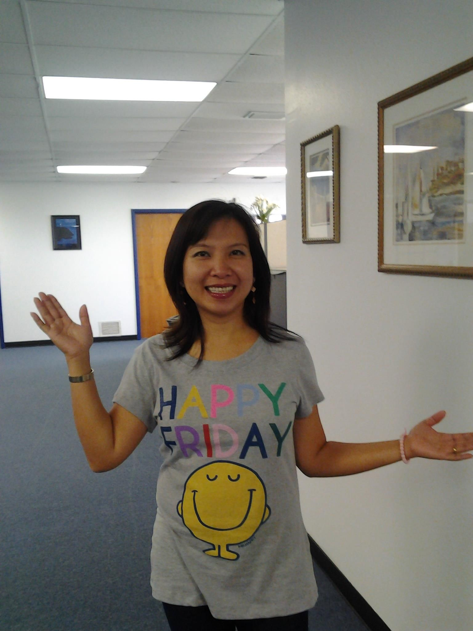 Happy Friday! Developer Van T shows off our favorite t-shirt   (Van is pronounced like fawn, not like man)