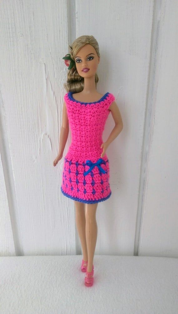 Clothes for Barbie Crochet Dress for Barbie Doll #crochetedbarbiedollclothes