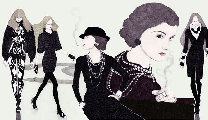 Image result for coco chanel illustrations