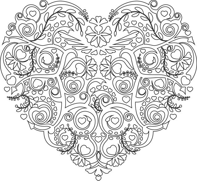 dessin a imprimer de coeur | CALOURING PAGE | Pinterest | Mandalas ...