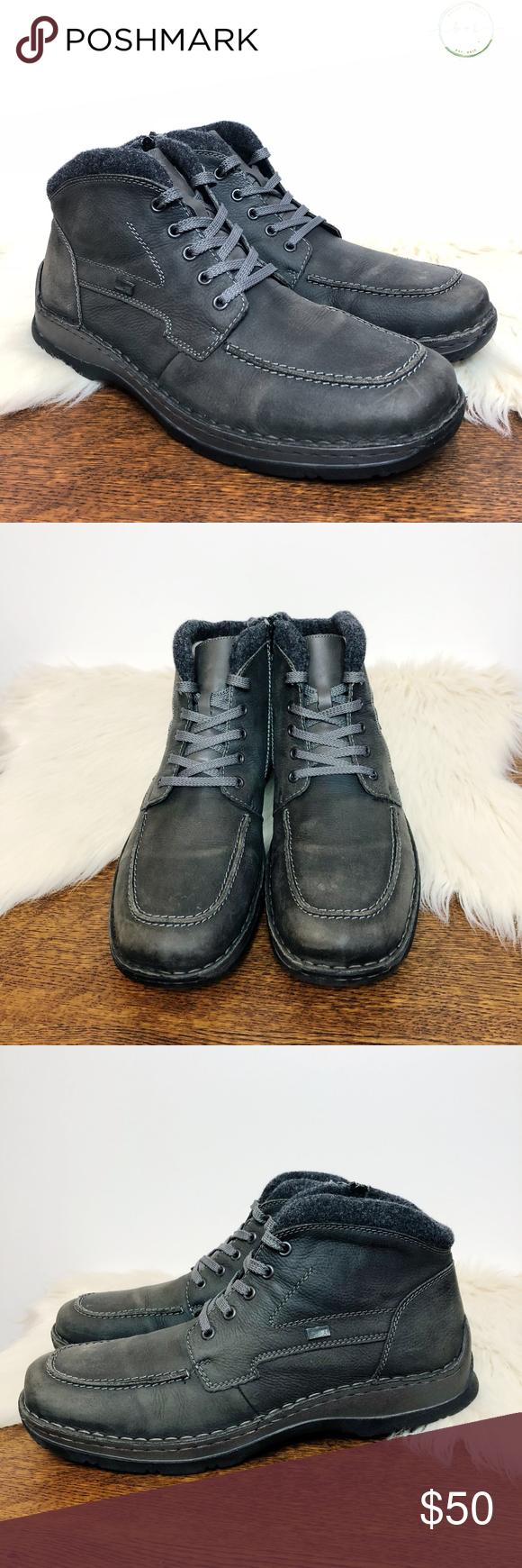 Rieker Tex Wool Lined Waterproof Boots Rieker Tex 32332 Gray
