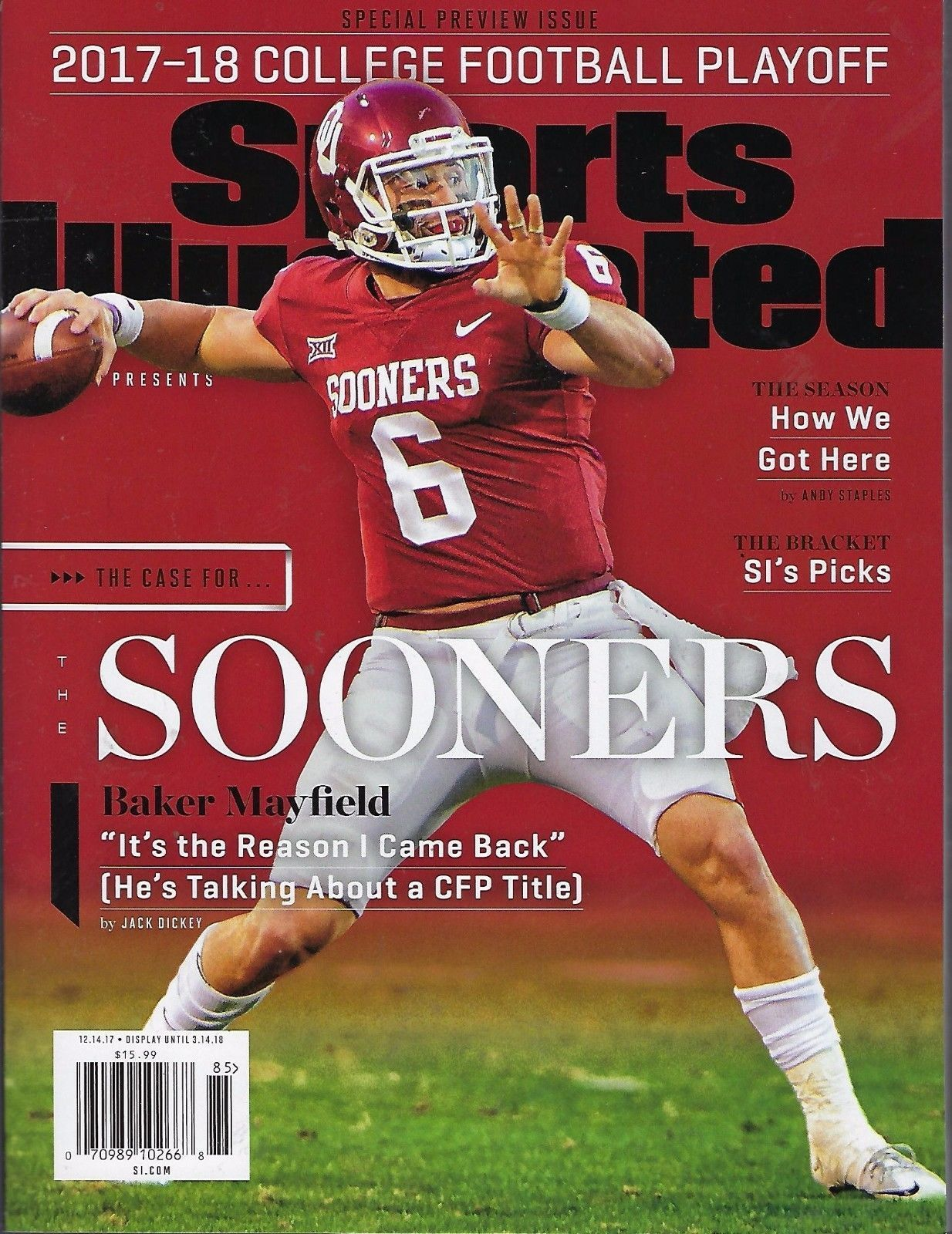2018 Sports Illustrated CFP Preview Baker Mayfield