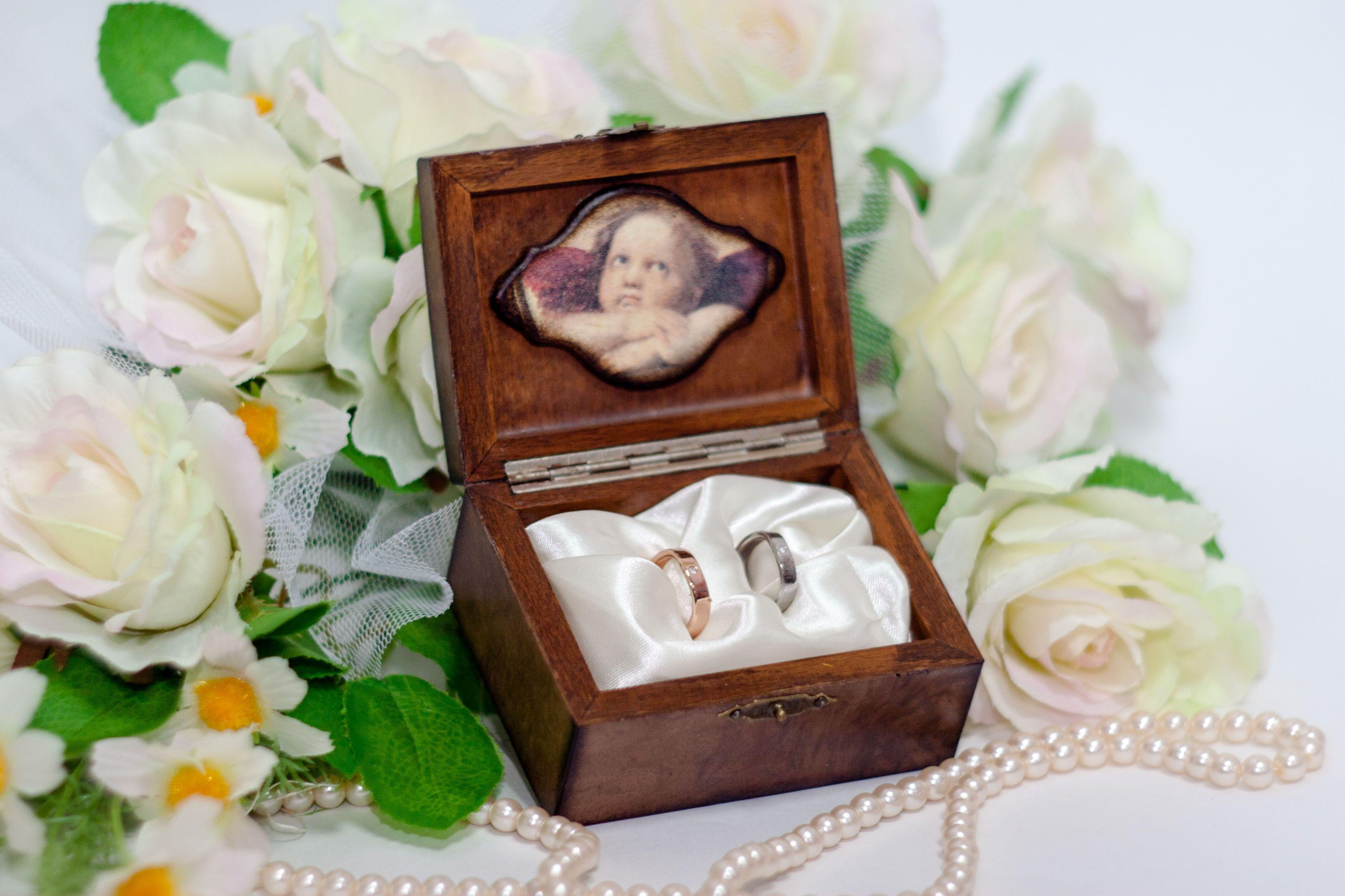 Фото коробок для свадебных колец