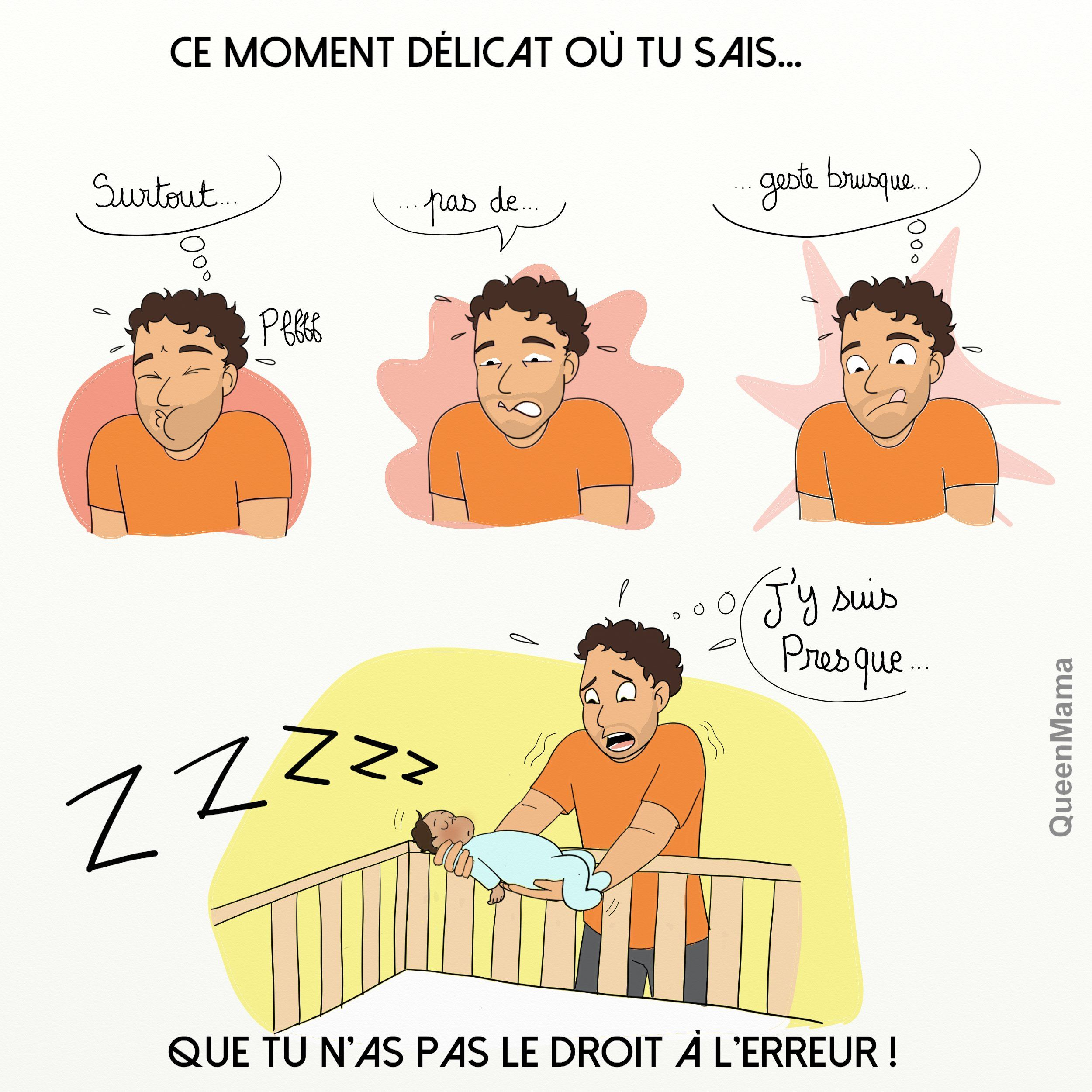 Coucher Bebe Sans Le Reveiller Pas Simple Humour Maman Humour Bebe Blog Bd
