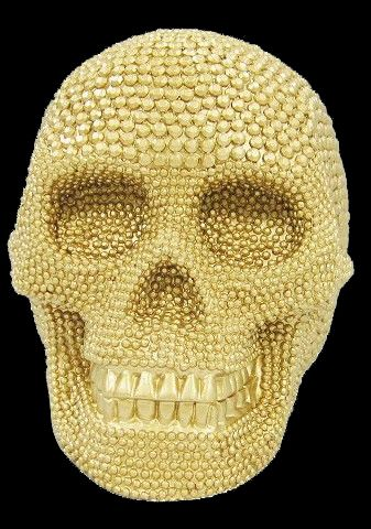 Halloween Spooky Gold Skull $8 Black  Gold Glam Gala Halloween - skull halloween decorations