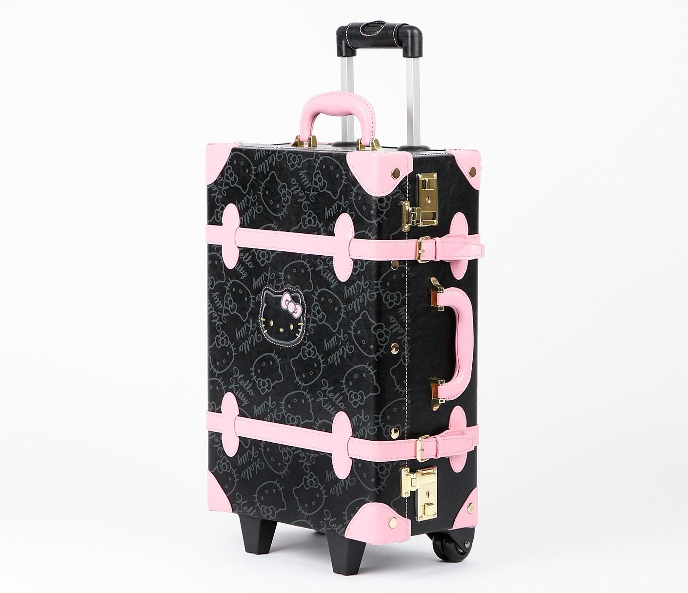a6c7ecb68c Hello Kitty Vintage Suitcase  Black in Bags Travel + Accessories Luggage +  Tags at Sanrio