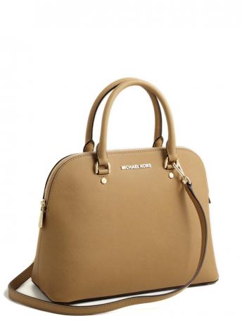 fac69c335c53 Michael Kors-cindy peanut dome satchel bag-borsa cindy pelle color nocciola
