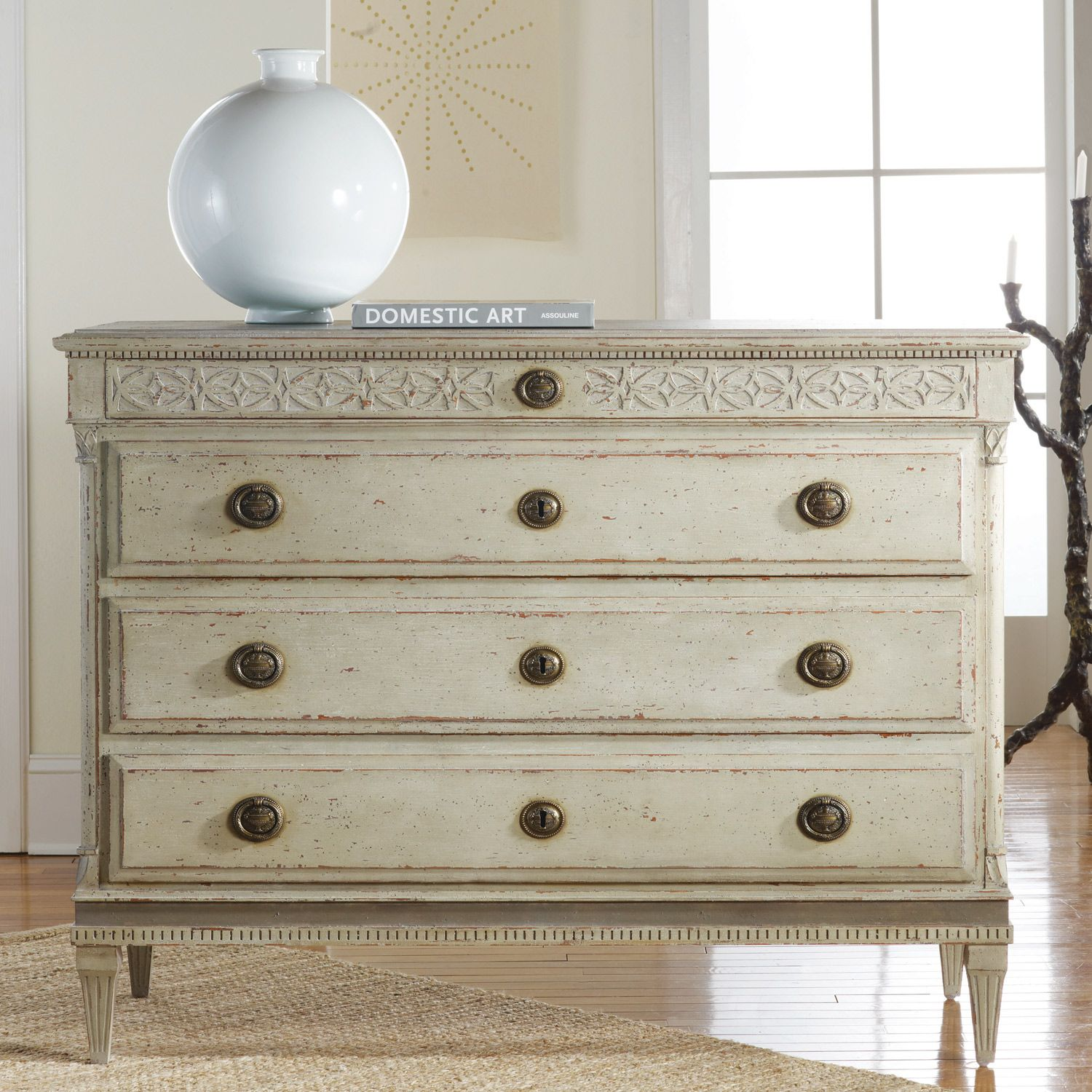 Modern Furniture History pretty dresser. i'm such a sucker for ring pulls. (large gustavian