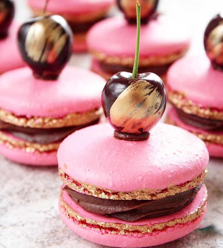 Gold forest macarons by @toplessbaker - Macarons -