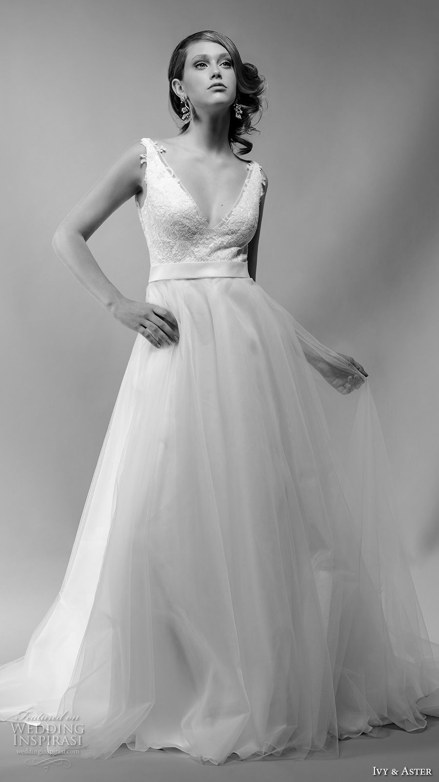 Ivy Aster Spring 2018 Wedding Dresses Wedding Inspirasi Wedding Dresses Sheer Wedding Dress Ivy And Aster [ 1604 x 900 Pixel ]