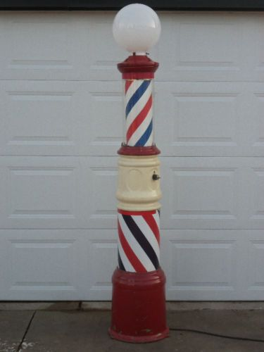 Vintage Barber pole Antique Barber Pole 1930's Paidar ...