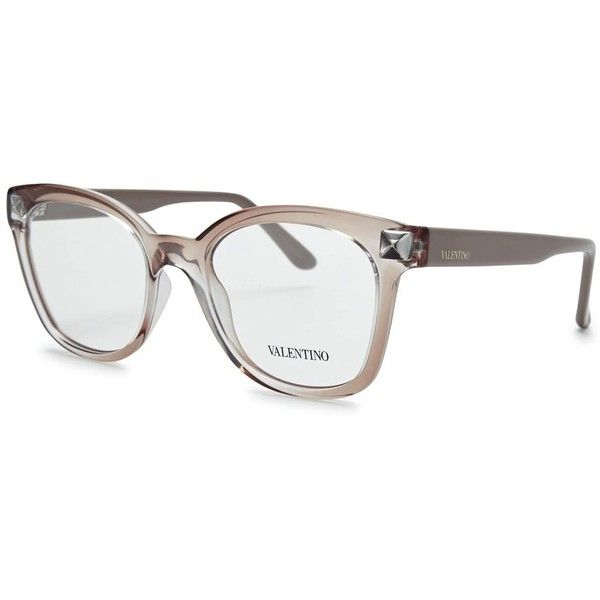 Womens Optical Frames Valentino Nude Wayfarer-style Optical Glasses ...