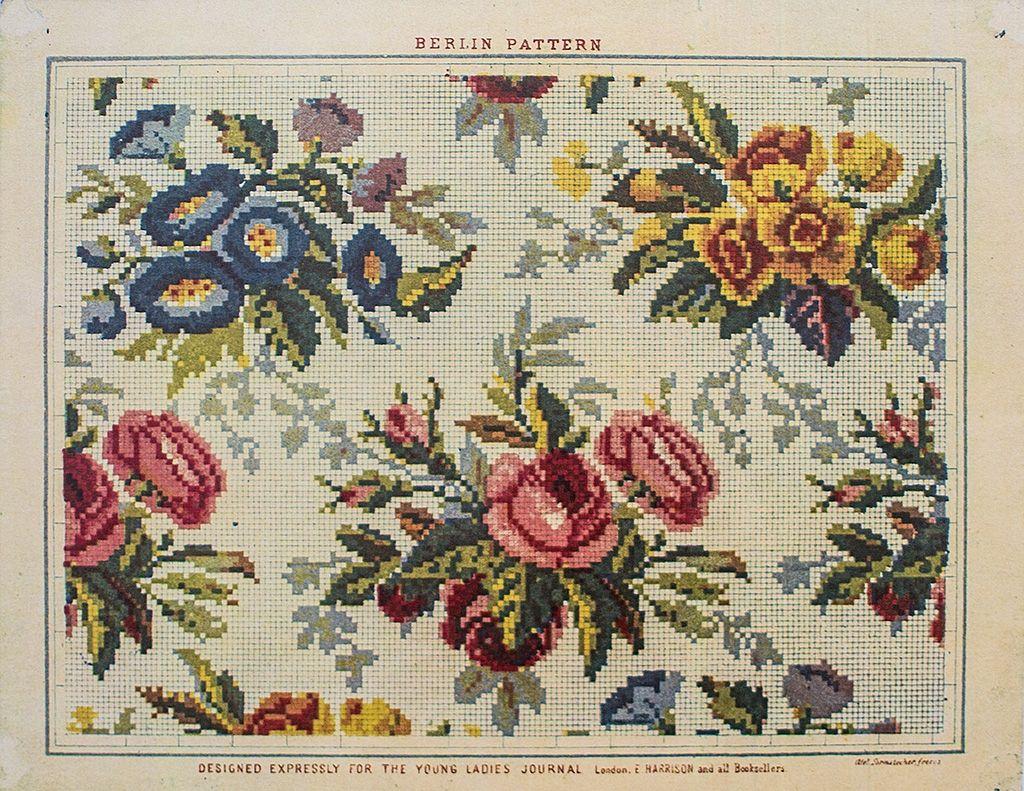 Berlin Work Floral Pattern