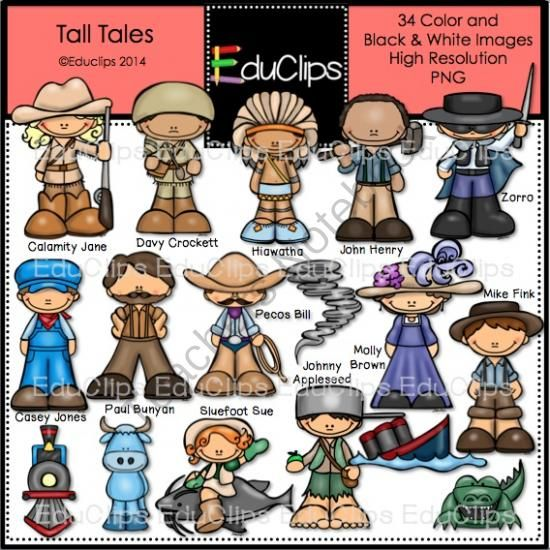 Tall Tales Clip Art Bundle from Educlips on