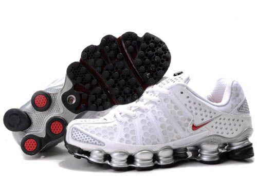 Men's Nike Shox Tl3 Shoes White&silver