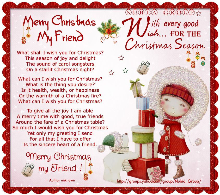 Nubia Group Inspiration Merry Christmas My Friend Merry Christmas Quotes Christmas Wishes Quotes Merry Christmas Poems
