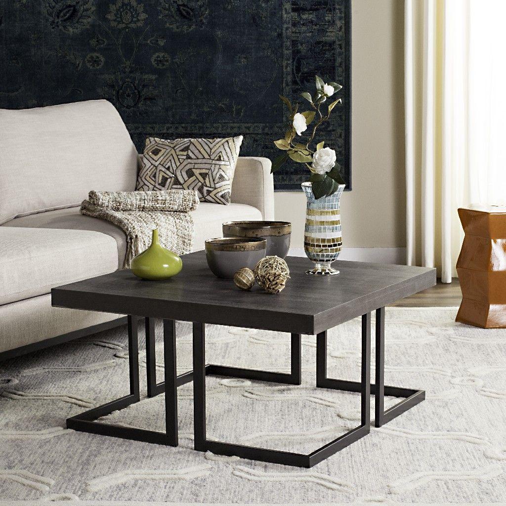 Amalya Modern Mid Century Wood Coffee Table In Dark Grey Black Safavieh Fox4253a Coffee Table Mid Century Coffee Table Coffee Table Wood [ 1024 x 1024 Pixel ]