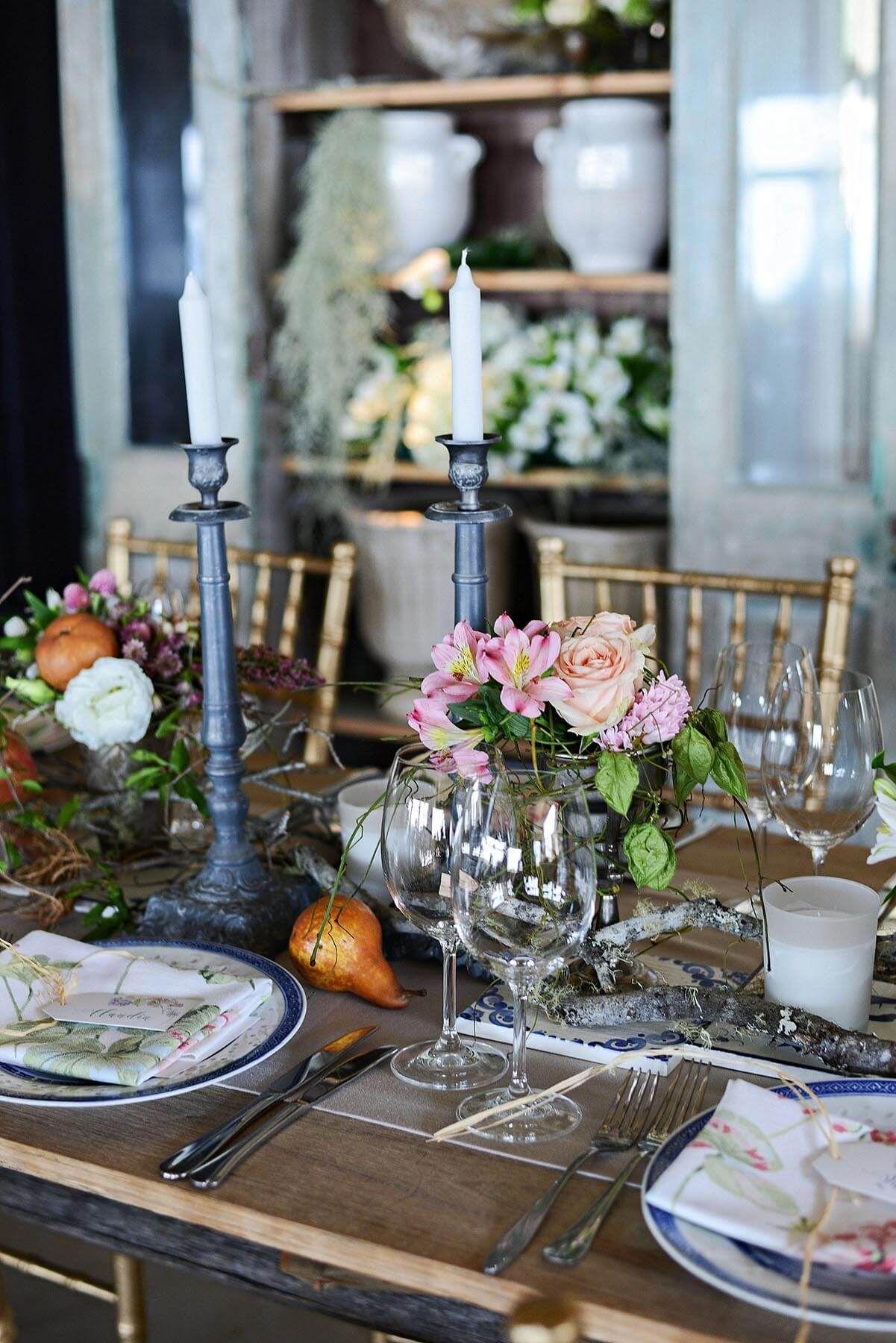 Barn wedding table settings  The Rose Barn  Otto de Jager Wedding  Tablesettings and weddings