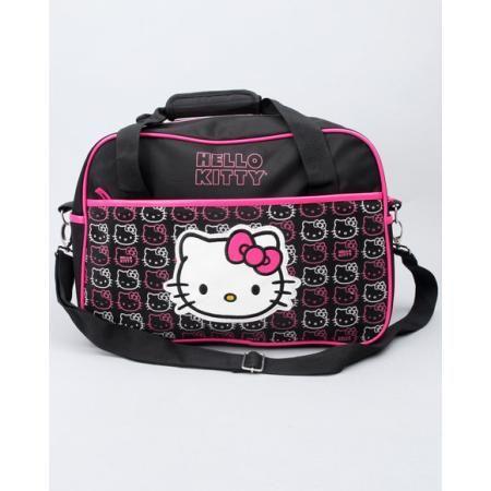 Hello Kitty - Girls Hello Kitty Weekender Duffle Bag (kids) - Black  #Beso #HelloKitty #Girls #Deals