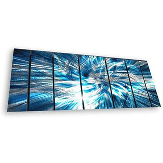Metal Wall Art Panels overstock - ash carl 'highlight' 7-panel abstract metal wall art