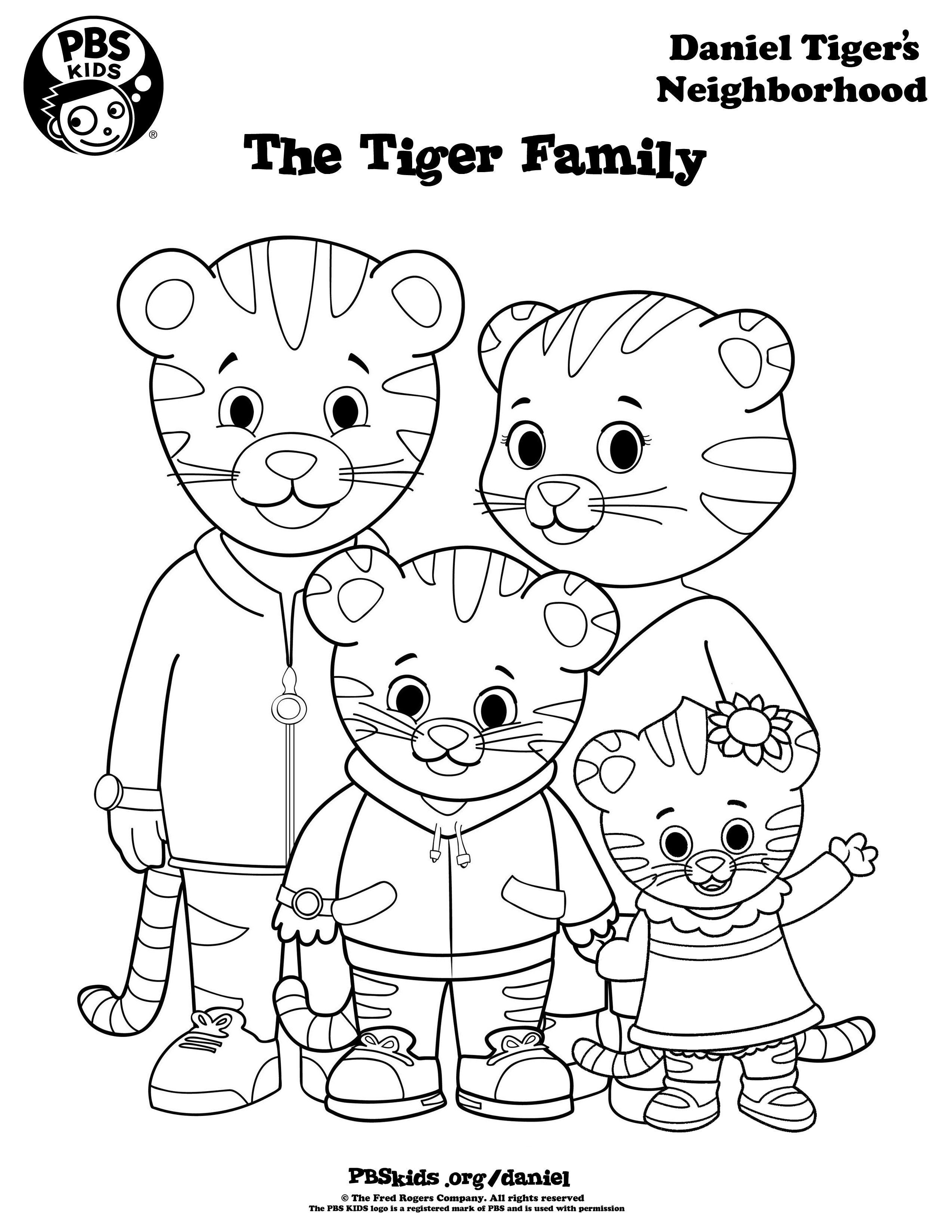 Coloring Daniel Tiger S Neighborhood Pbs Kids Daniel Tiger Tiger Birthday Party Daniel Tiger Birthday Party
