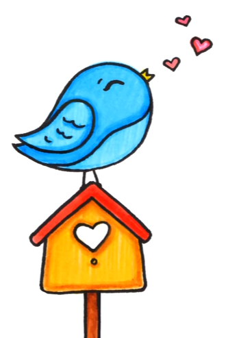 Bird On A Birdhouse Dibujos Kawaii Dibujos Kawaii Faciles Dibujos Kawaii 365