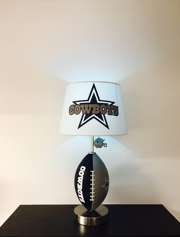 Dallas Cowboys Lamp Nfl Man Decor Garage Decor Football Light Ezekiel Elliott By Caliradoart On Etsy Https Www E Cowboy Lamp Football Lights Manly Decor