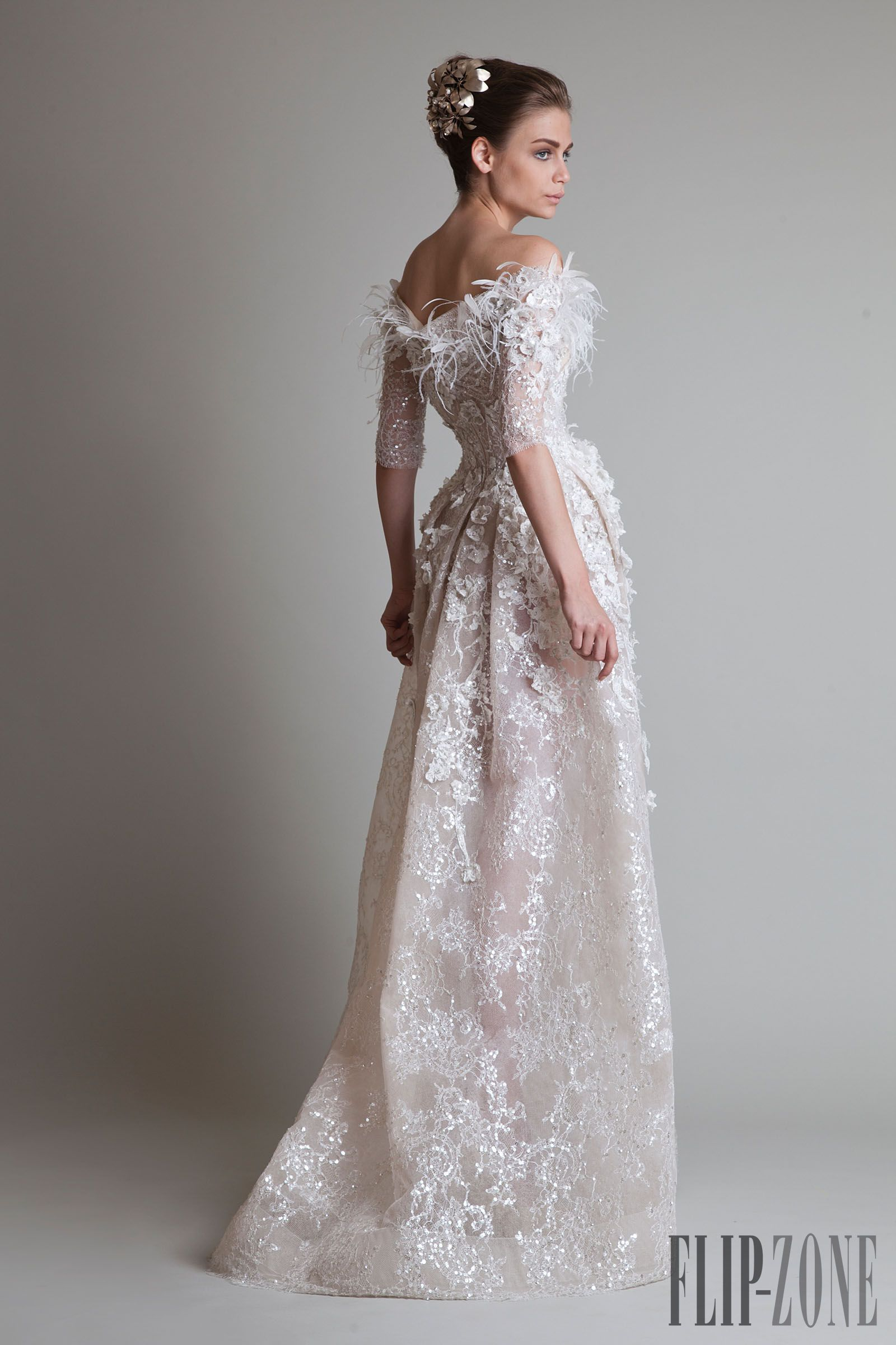 Same beautiful Krikor Jabotian wedding gown d5ae740355