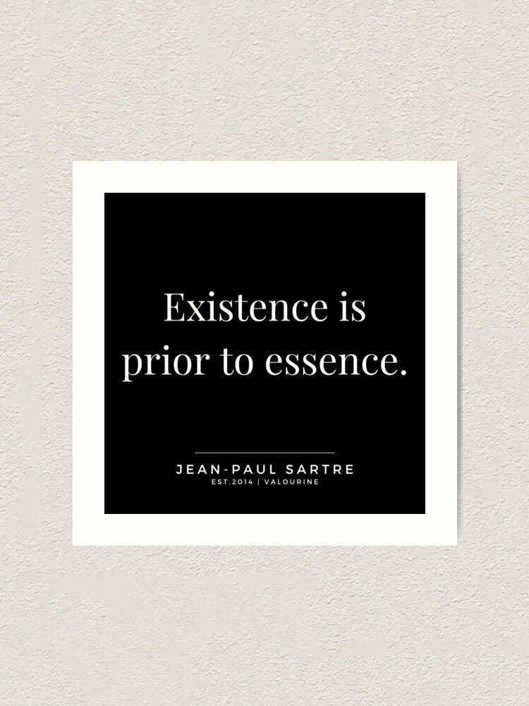 62  | Jean-Paul Sartre Quotes | 190810 Art Print by valourine