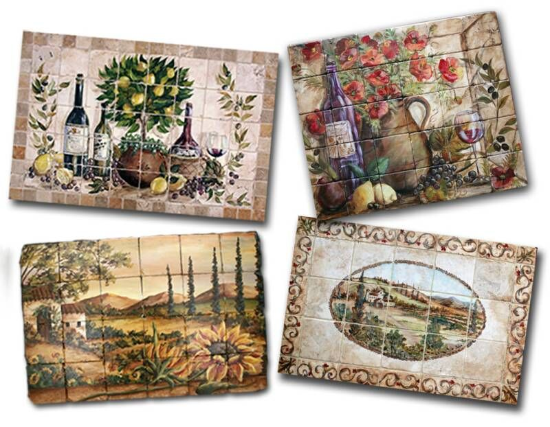 Hand Painted Decorative Tiles Adorable Tre Sorelle Hand Painted Tile Murals And Decorative Tiles  The 2018