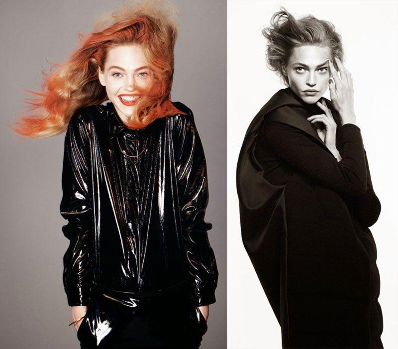 Sasha Pivovarova redhead Vogue Paris August 2014 David Sims