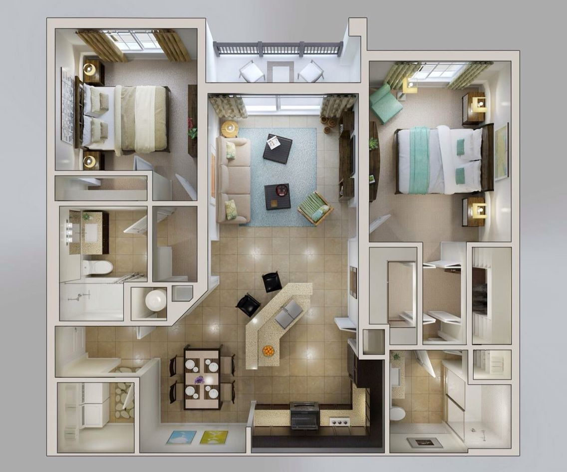 Maquete · Modern ArchitectureSmall HousesHome InteriorsStudio ApartmentsContainer  HousesFloor PlansDecor Ideas