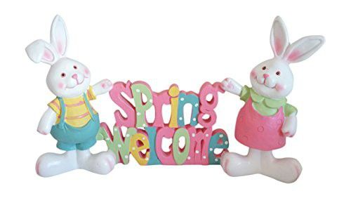 Cheerful Spring Easter Bunny Cutout Tabletop Standing Decoration