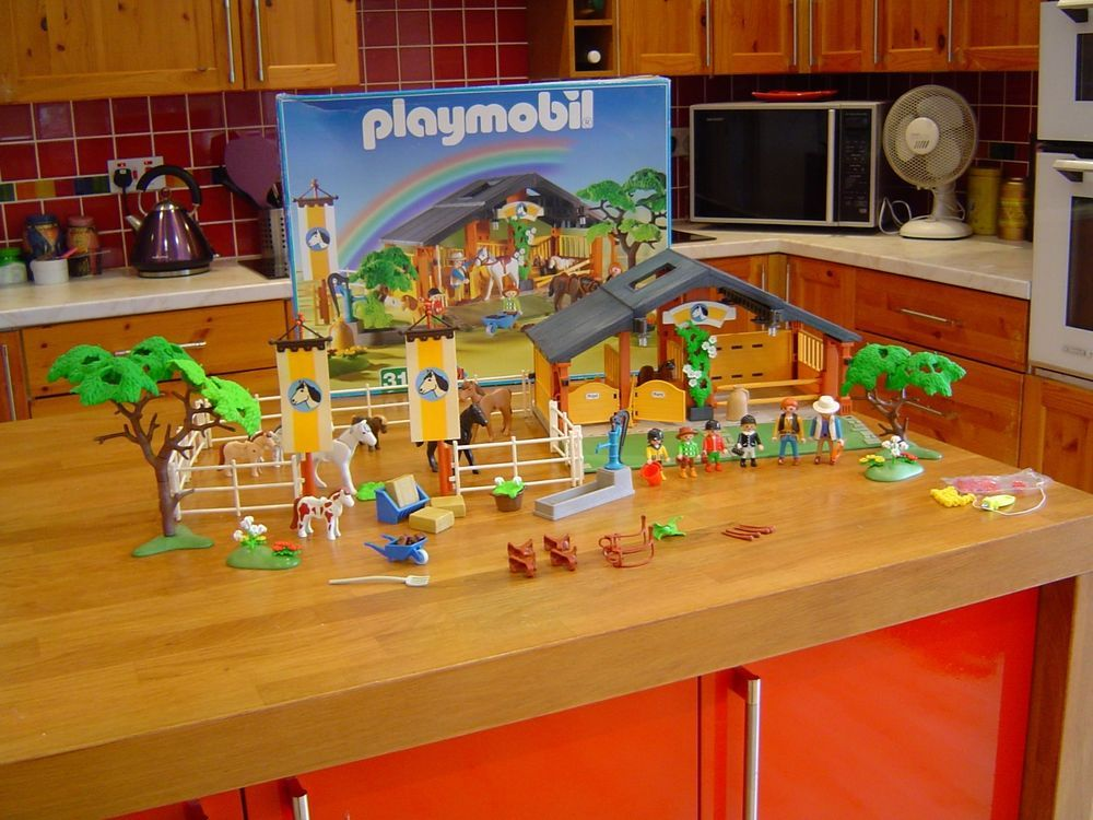 Playmobil 3120 Pony And Horse Ranch Extras With Box And