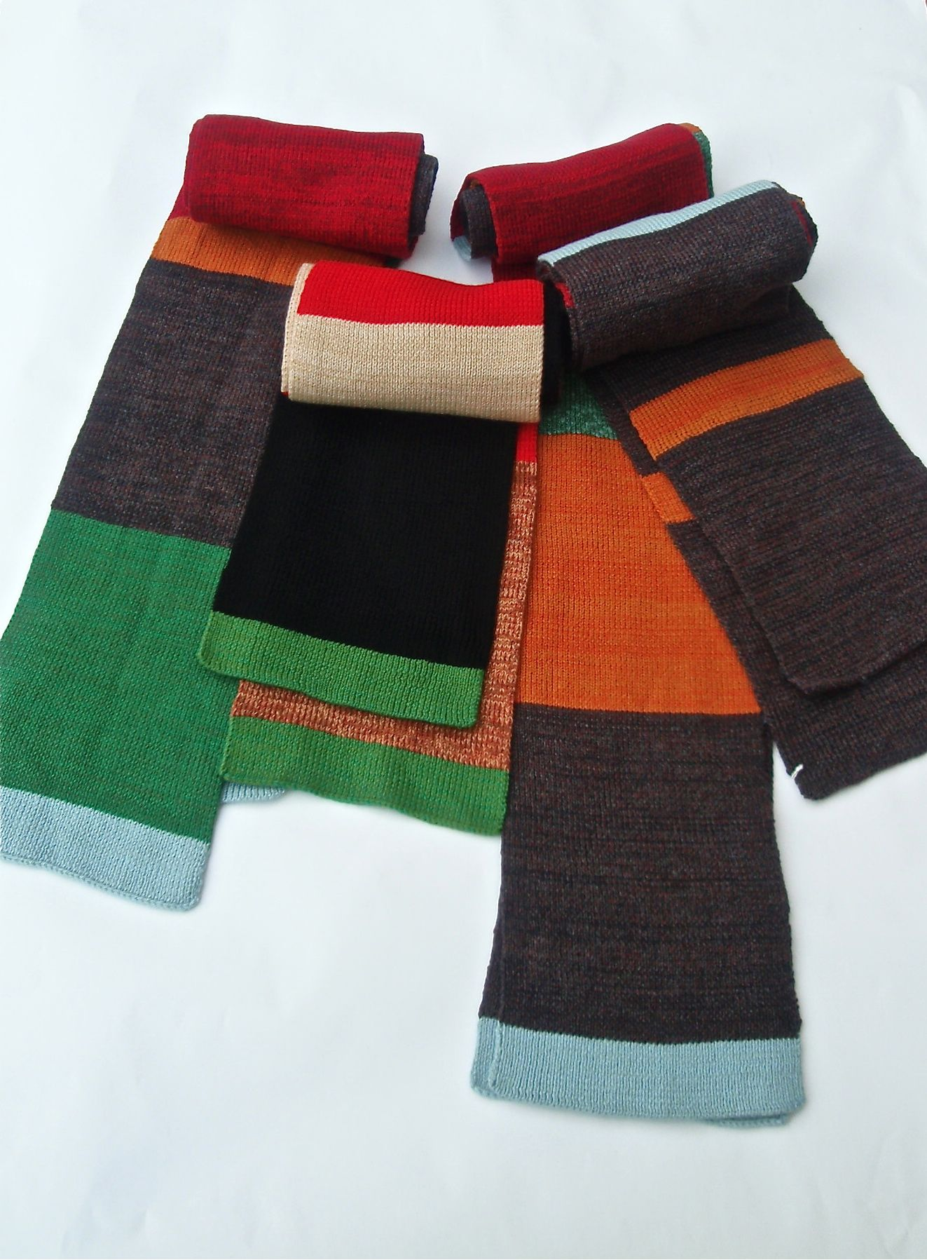 mixed mens merino scarves Contemporary knitwear