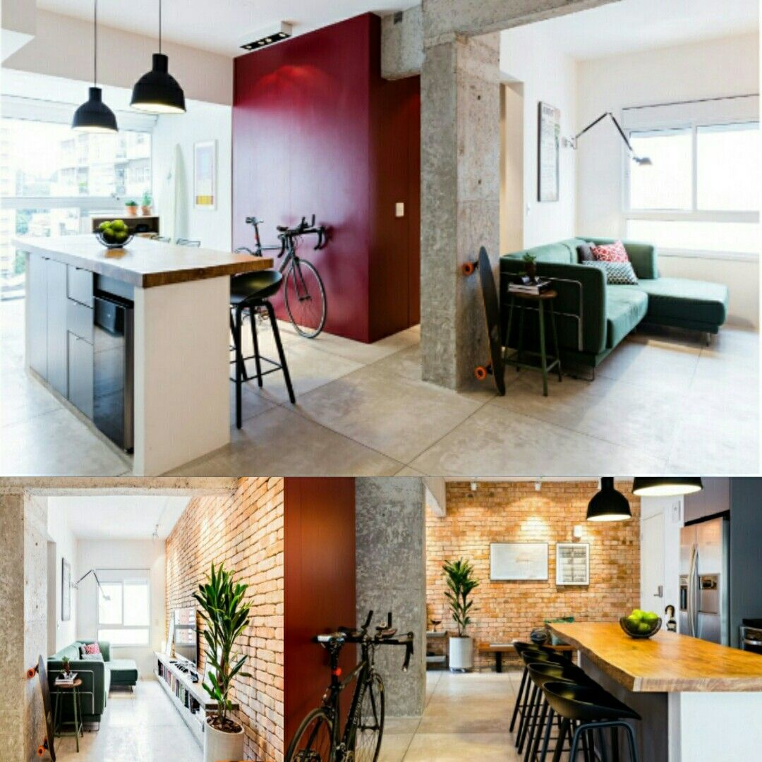 Basic colors create motion in small spaces kitchen dining living