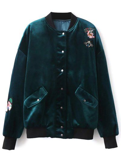 SHARE & Get it FREE   Embroidered Single Breasted Velvet JacketFor Fashion Lovers only:80,000+ Items • New Arrivals Daily Join Zaful: Get YOUR $50 NOW!