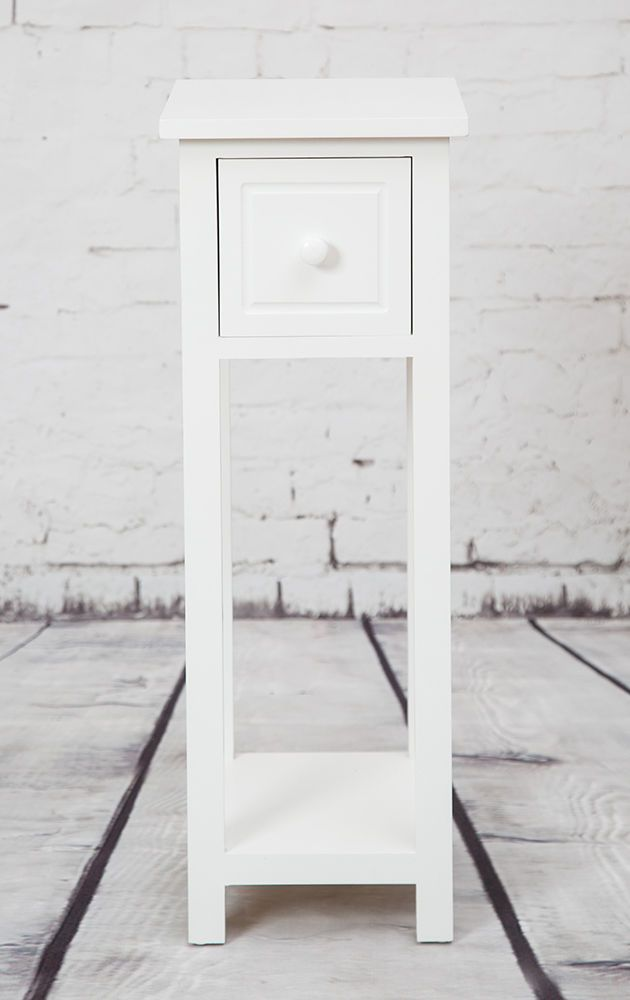 For Hall to keep keys on White Telephone Table With