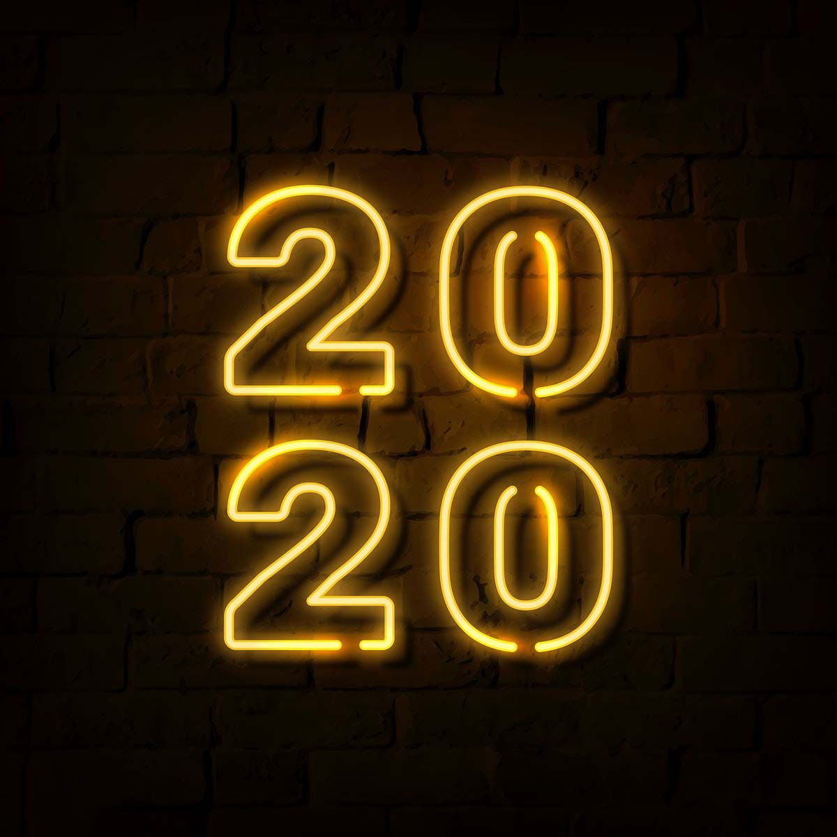 Happy New Year Images 2020 & Wallpapers Social ads, Neon