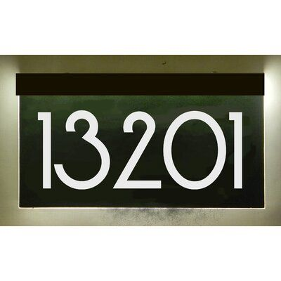 Ez Street Signs 1 Line Led Address Sign With Plug In Transformer