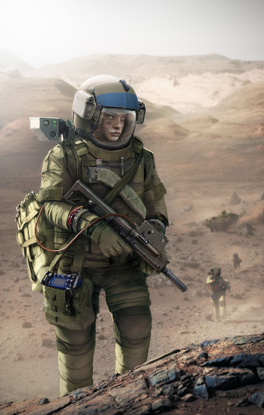 sci fi soldier concept armor future suits artstation star space futuristic cyberpunk citizen artwork soldiers suit marine combat soldados armored