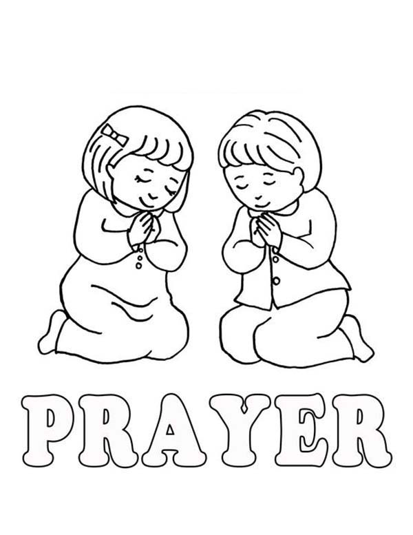 Learn To Lords Prayer Coloring Page Coloring Sky In 2021 Free Coloring Pages Coloring Pages Children Praying