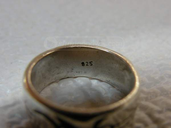 shopgoodwill.com: Silver ring with tribal design