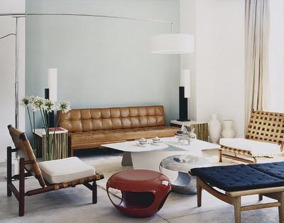 Herve van der straeten aluminium stools interiors midcentury